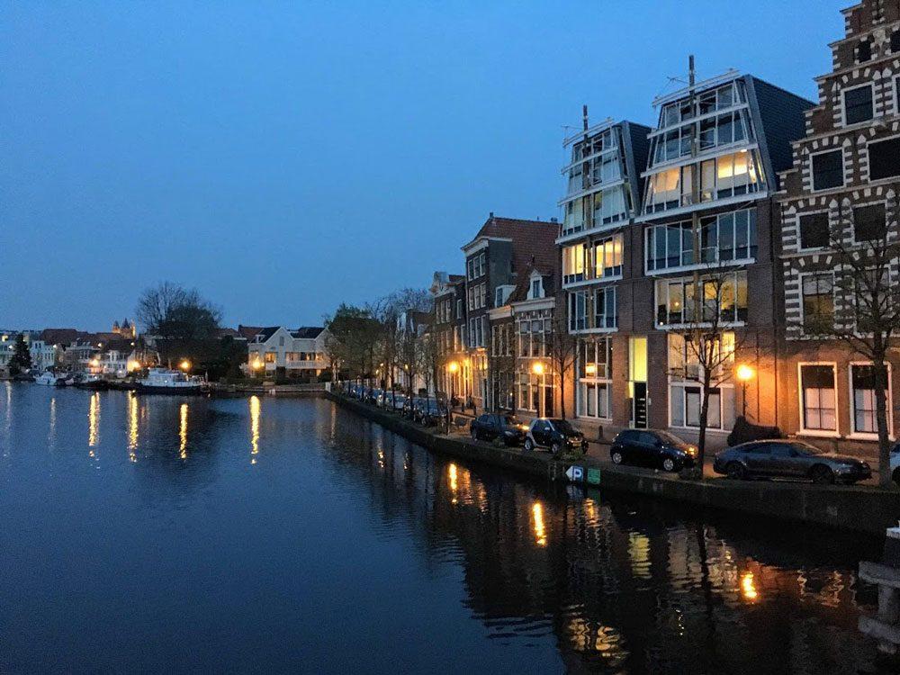 Netherlands at dusk