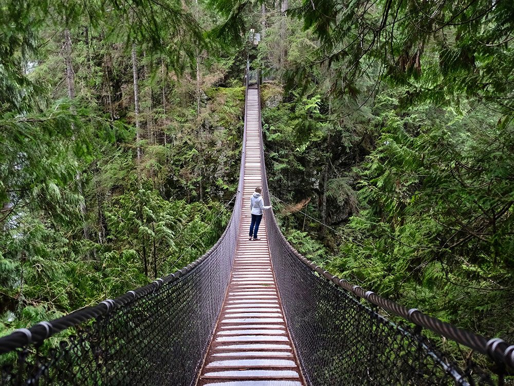 Best day trips from Vancouver - Lynn Canyon suspension bridge