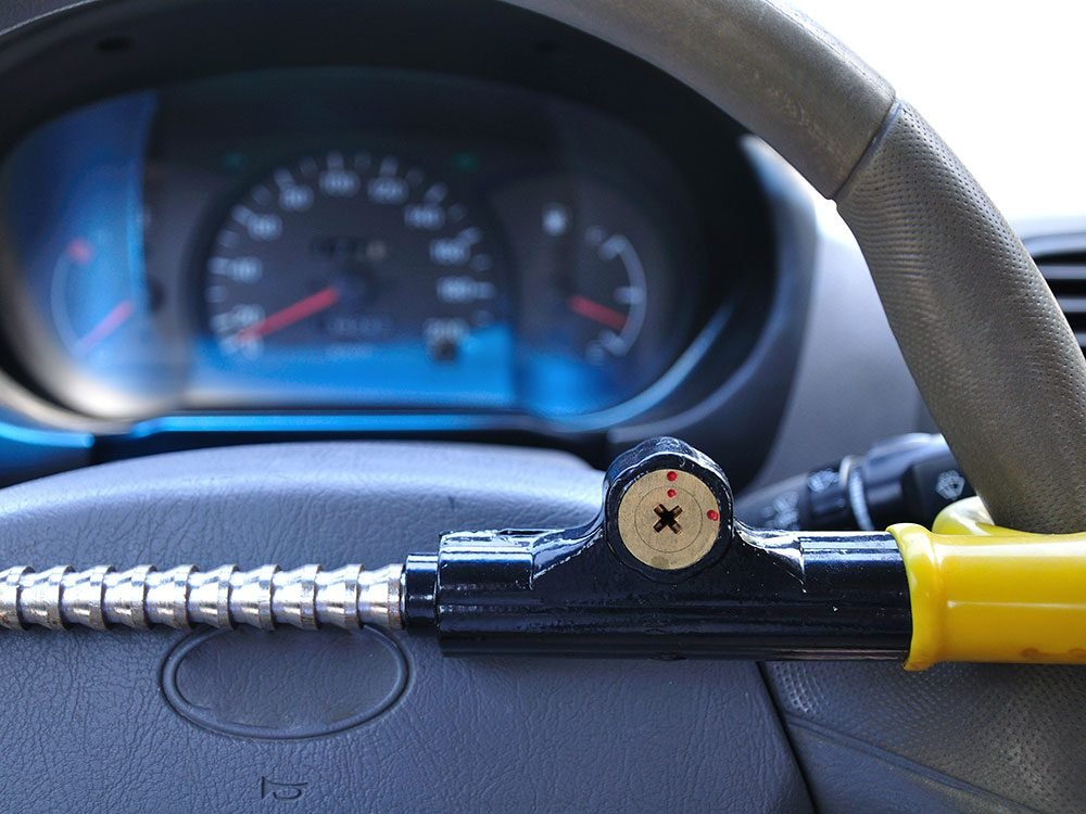 Car security tips - invest in a steering wheel lock