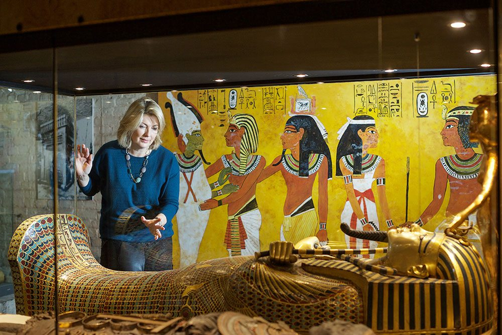 Highclere Castle - Egyptian Exhibit and Lady Carnarvon