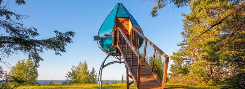 Quirky hotels across Canada - Oasis Pods at National Parks