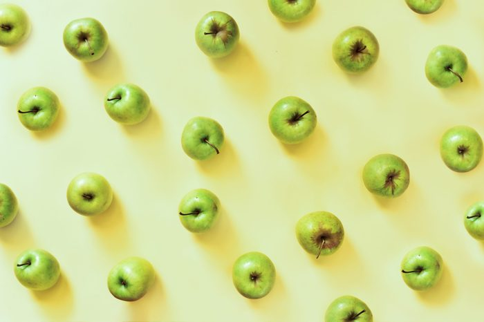 Colorful pattern of apples