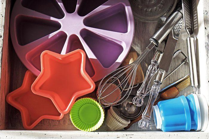 Inside kitchen drawer