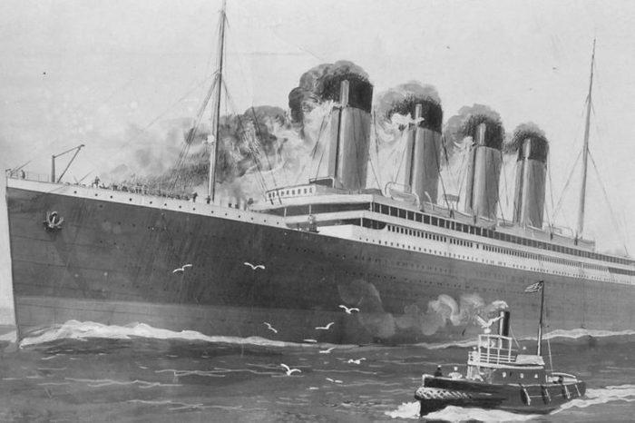 titanic in ocean