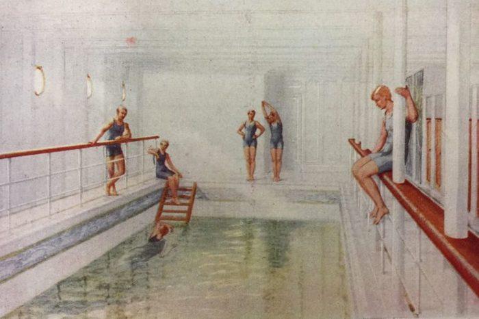 titanic swimming bath