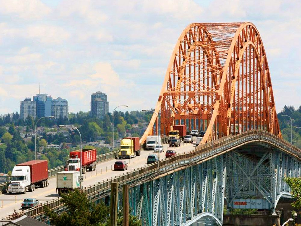 Pattullo Bridge in Surrey, British Columbia