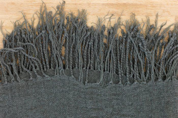 A close up shot of a throw rug
