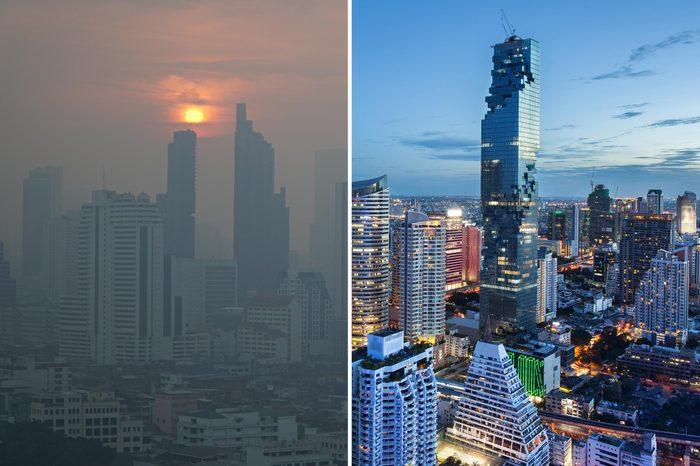 Bangkok Thailand smog