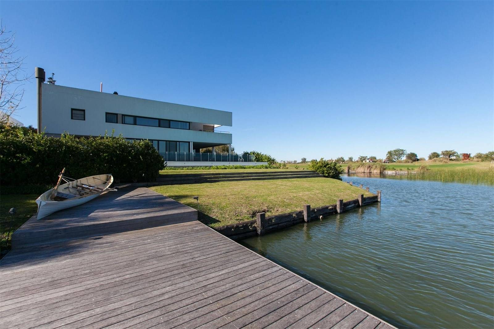Modern mansion on the waterfront in Argentina