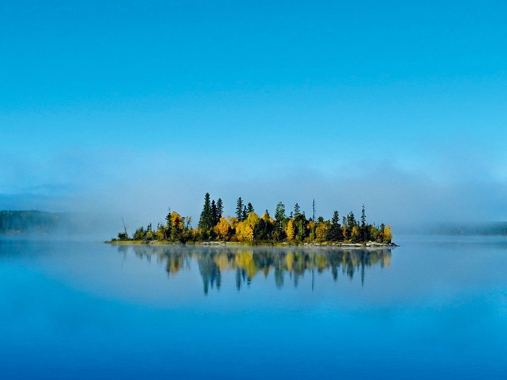 Island on Jan Lake, Saskatchewan