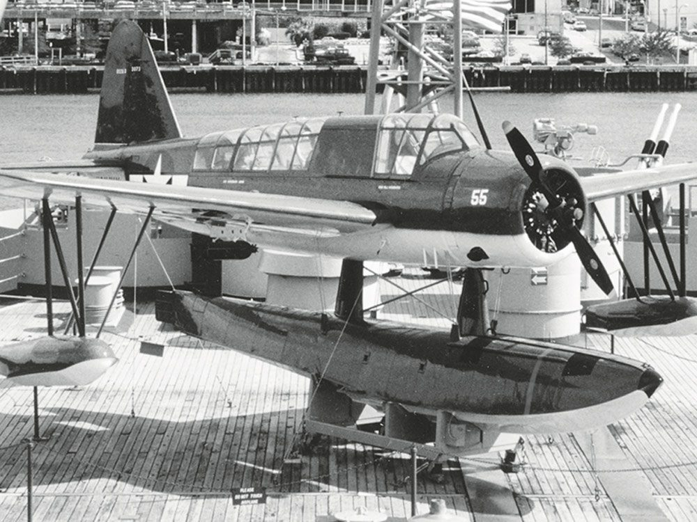 Kingfisher on Battleship North Carolina