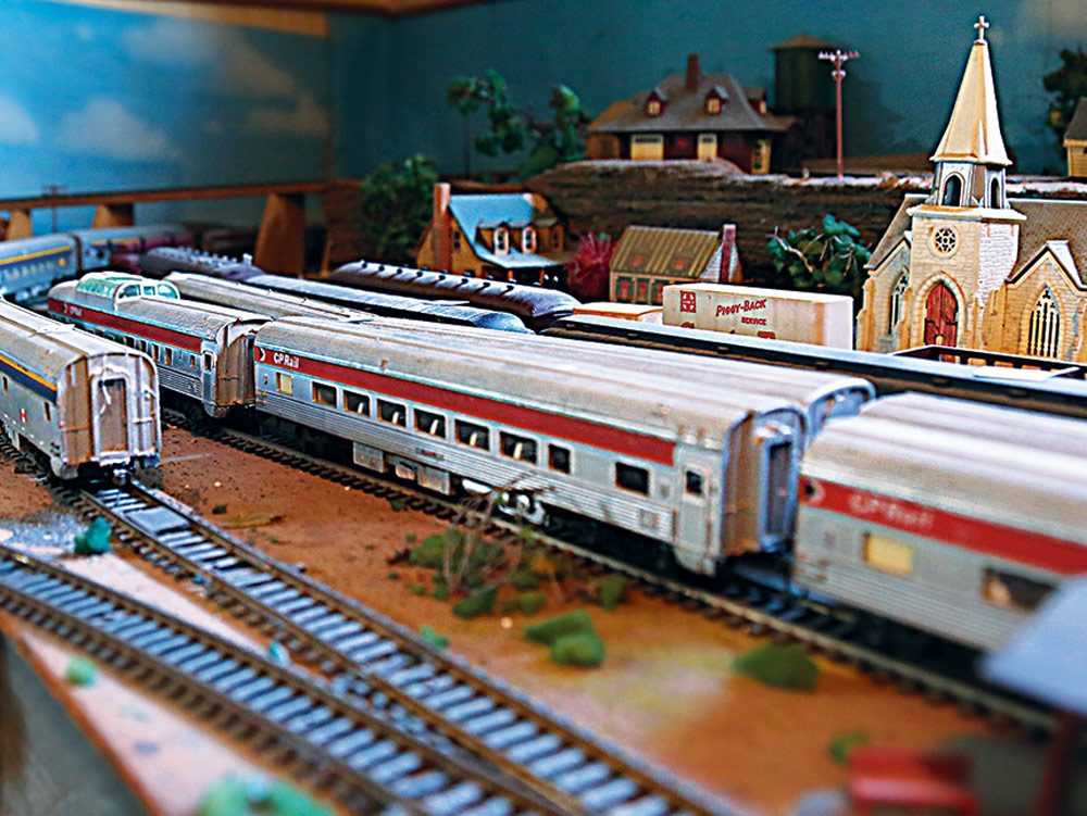 Model train collection