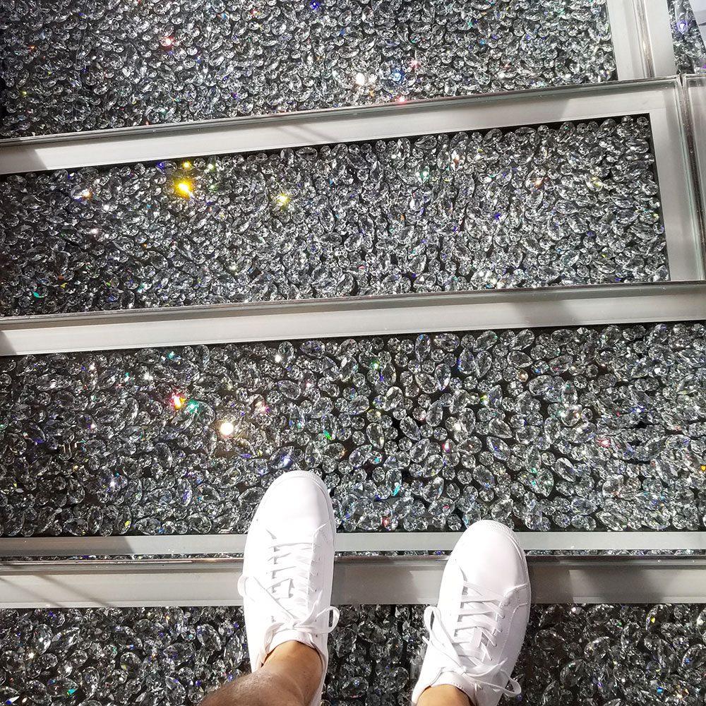 MSC Seaside - Swarovski crystal staircase