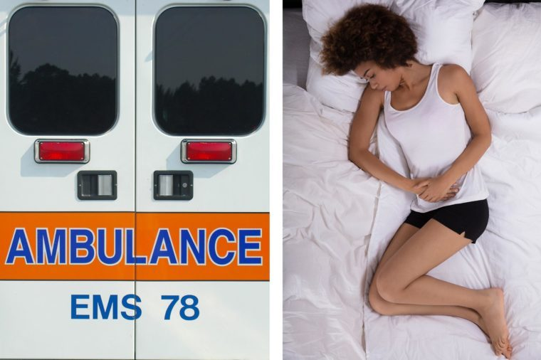 Upper abdominal pain - ambulance stomach pain not going away