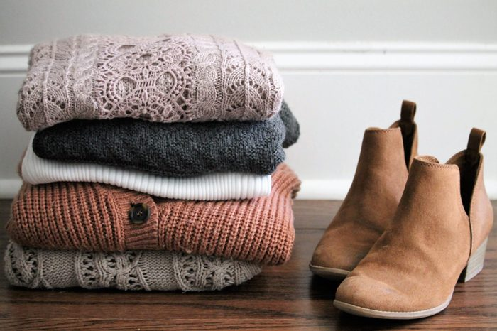 Fall Sweaters Softly Folded with Fall Boots