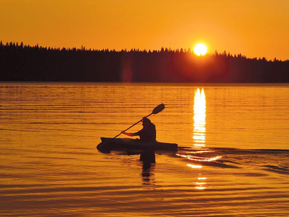 Sunset on Jan Lake, Saskatchewan