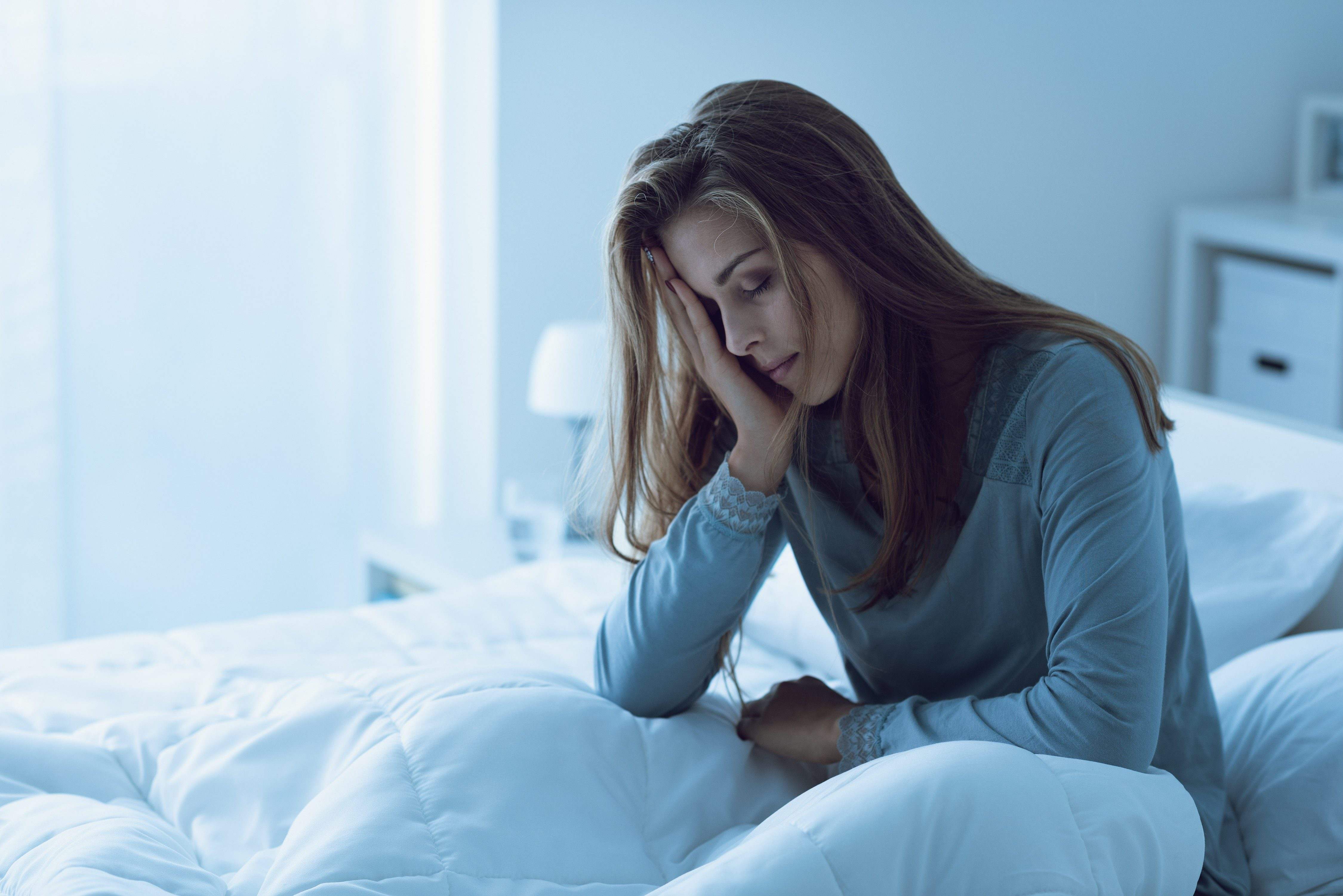 Woman with insomnia