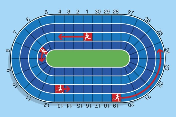 track and field illustration