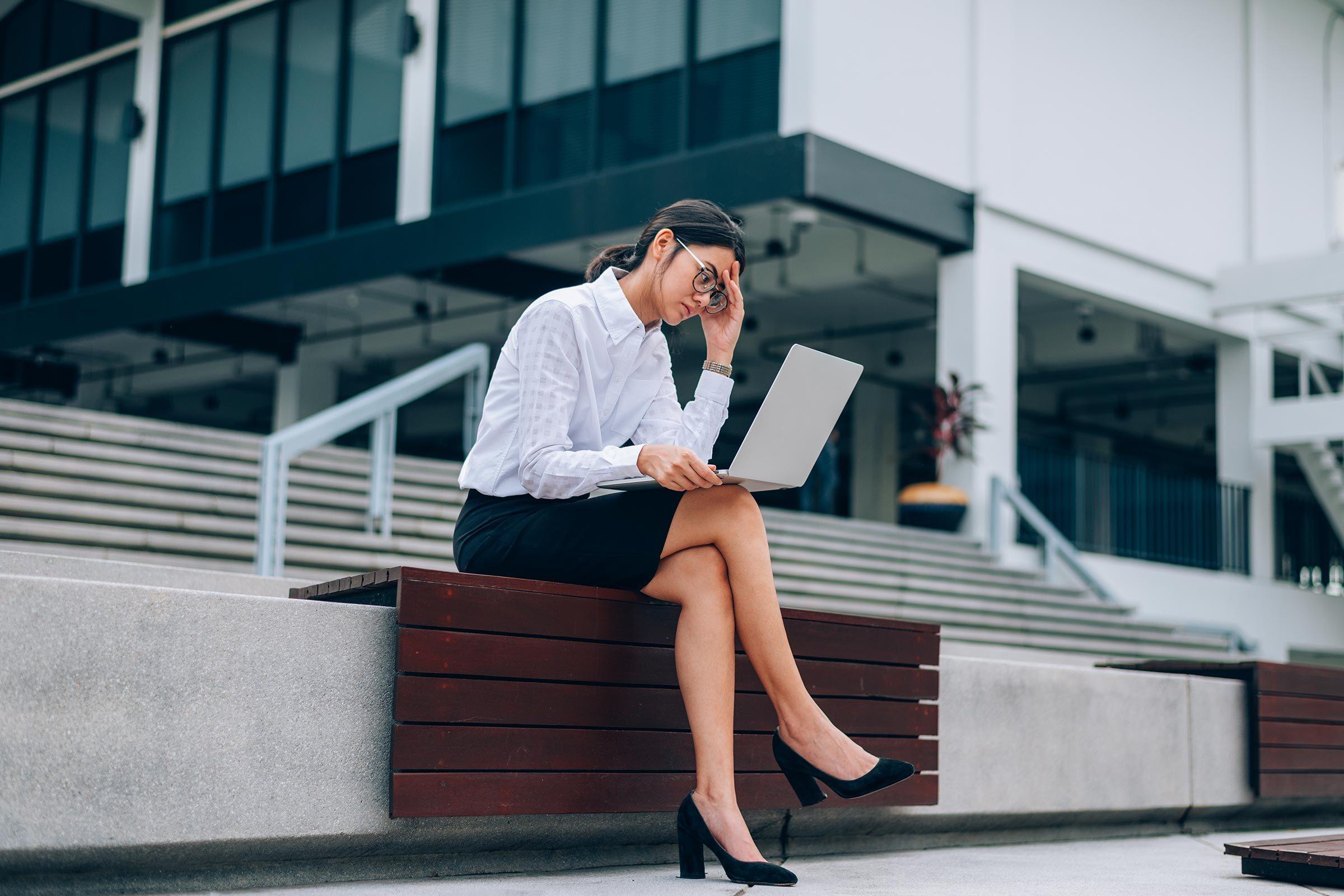 woman laptop work