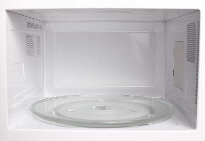Microwave oven inside view