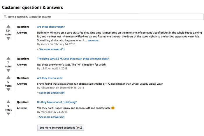 amazon reviews questions and answers