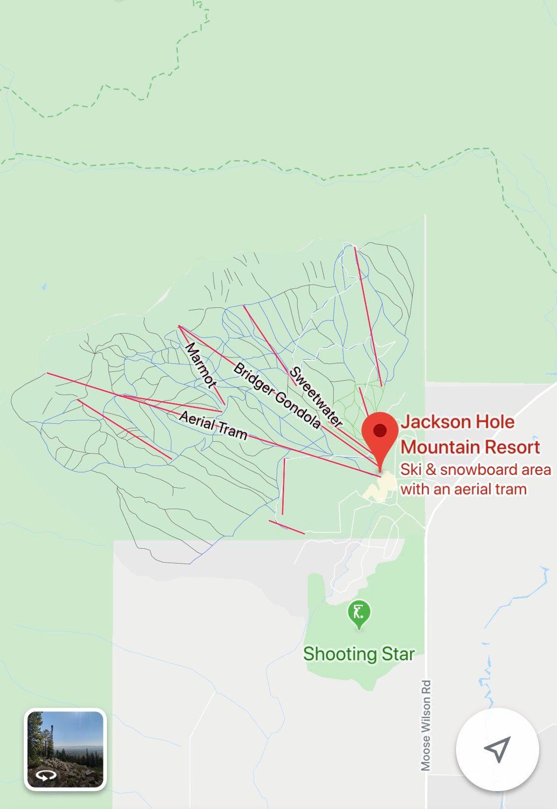 google maps ski map