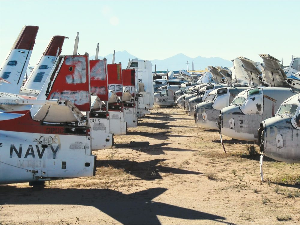 Airplanes at Davis-Monthan Air Force Base
