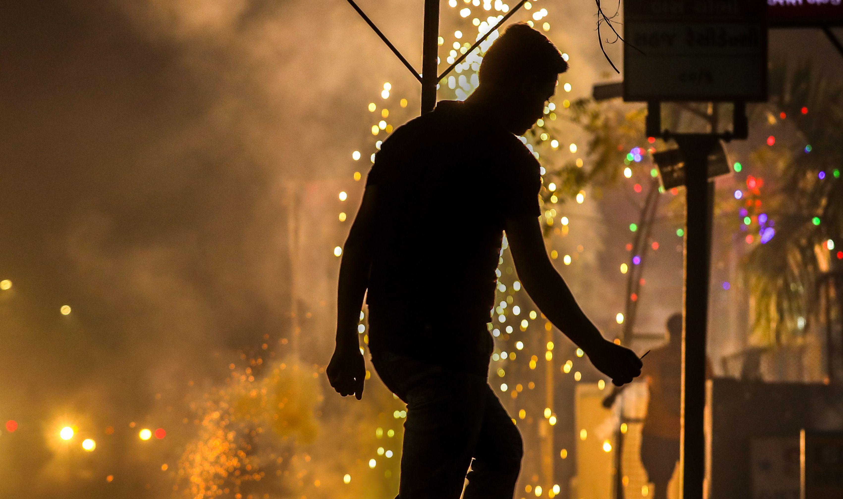 Diwali festival in Ahmedabad, India - 07 Nov 2018