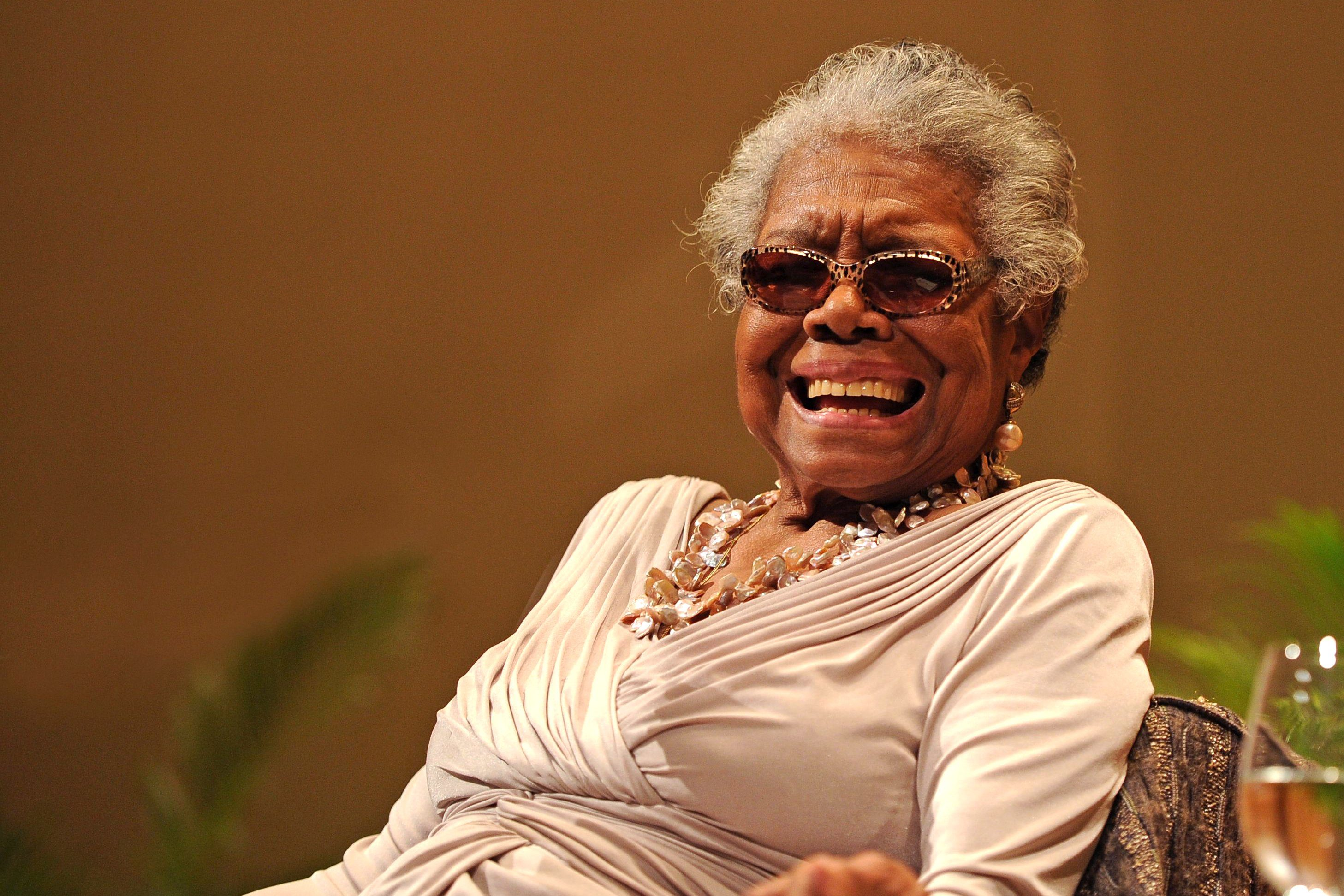 Mandatory Credit: Photo by Jeff Daly/Invision/AP/Shutterstock (9084077b) Dr. Maya Angelou speaks on race relations at Congregation B'nai Israel and Ebenezer Baptist Church on in Boca Raton, Florida Dr. Maya Angelou - Florida, Boca Raton, USA