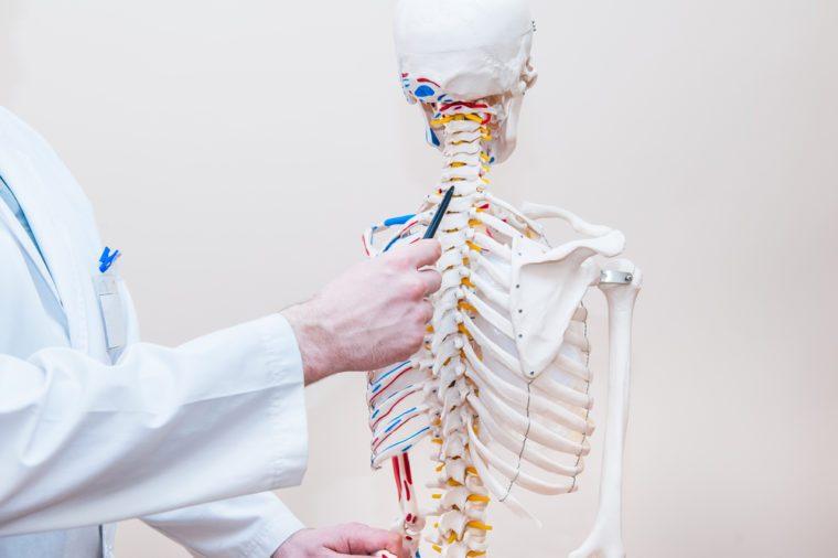 Skeleton in doctor's office