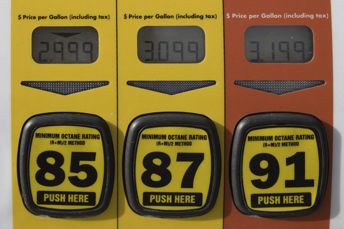 Price display on three different levels of gasoline in US dollars. Price gouging?