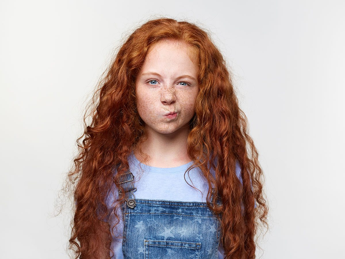 Funny parenting Tweets - Grumpy little girl