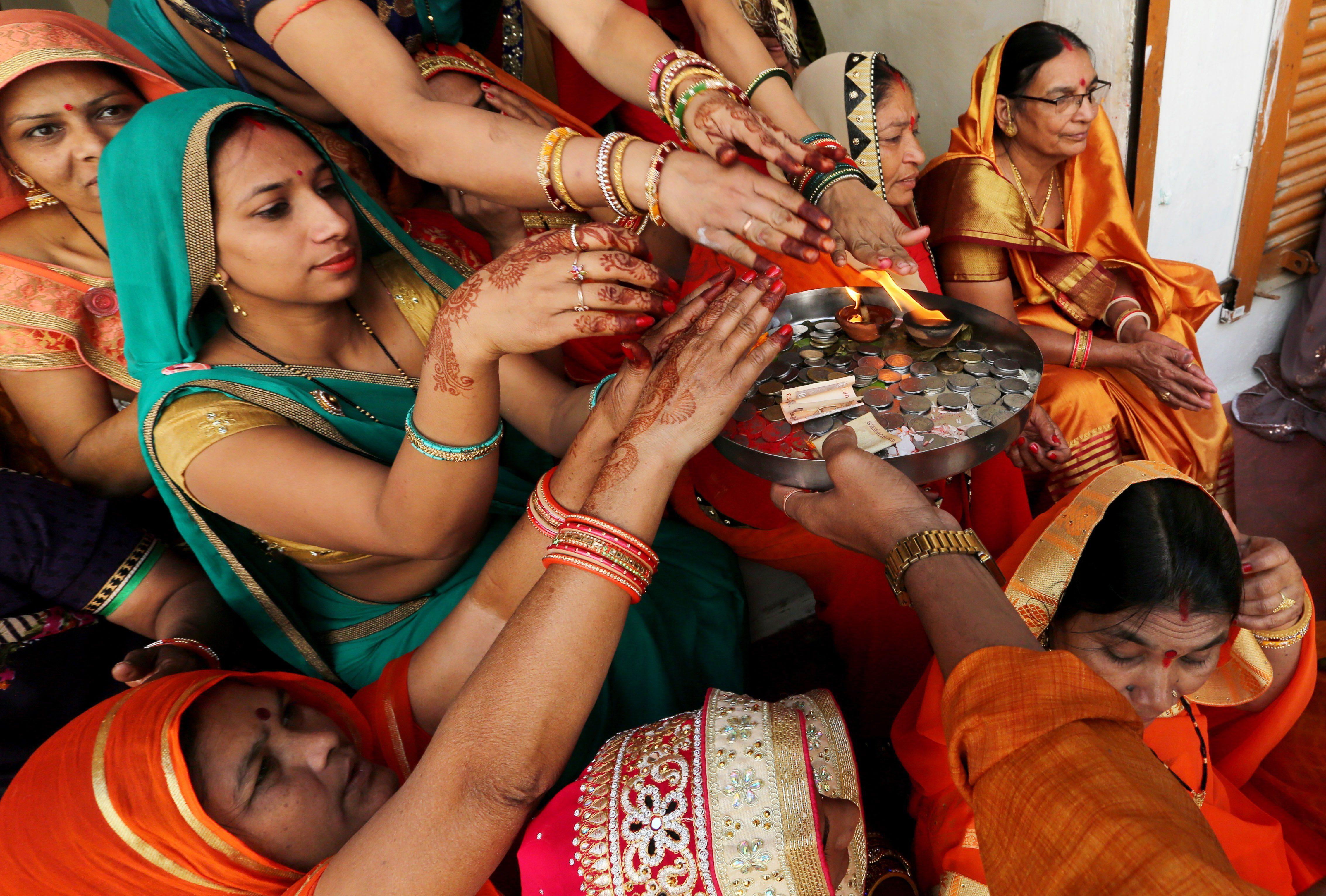 Govardhan Puja festival, Bhopal, India - 08 Nov 2018