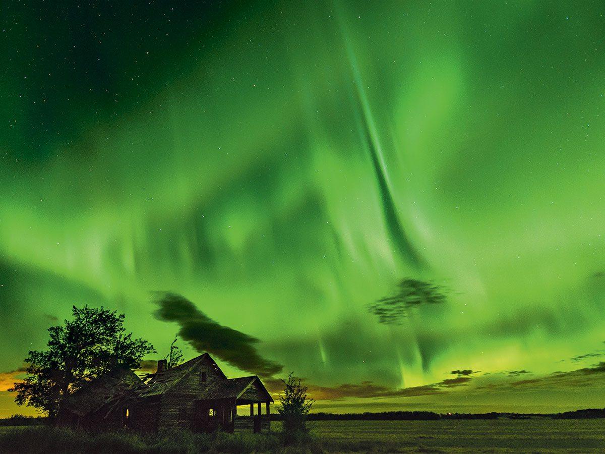 Northern lights photography Alberta