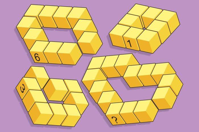 Number blocks math problem illustration