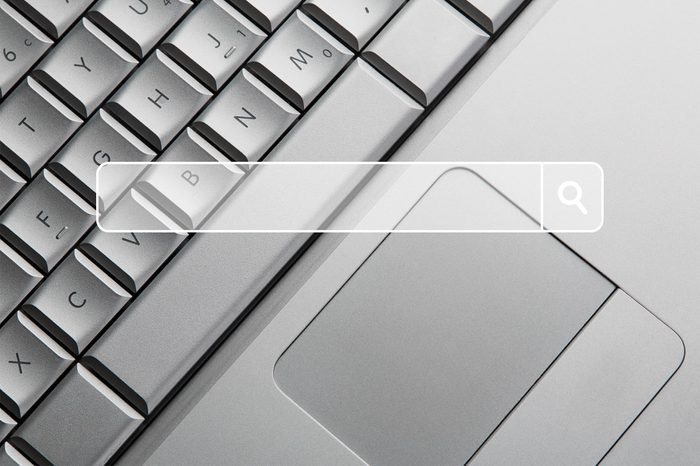 close-up laptop keyboard with touchpad