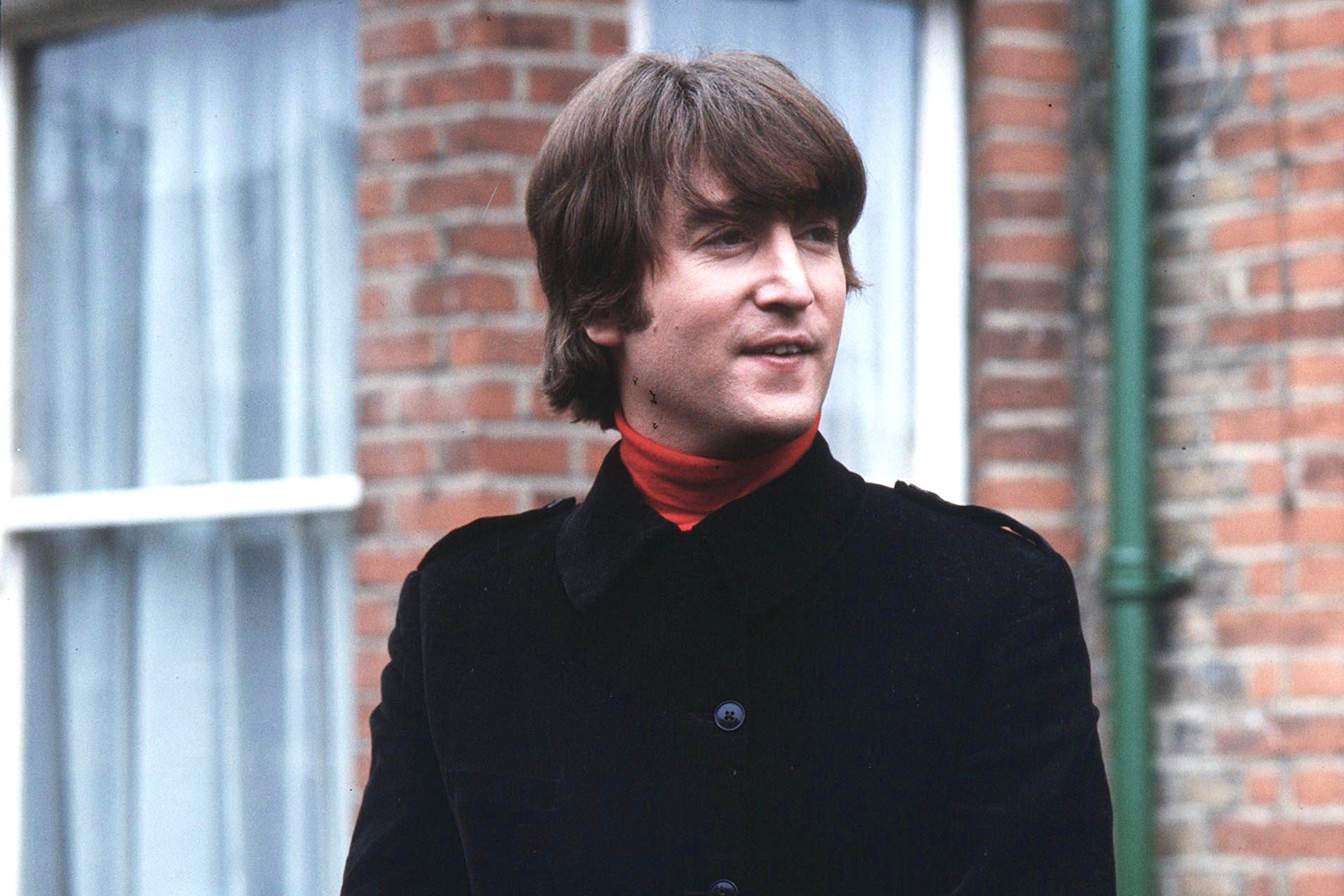 Mandatory Credit: Photo by Pierluigi Praturlon/Shutterstock (11453b) John Lennon in Ailsa Avenue, Twickenham The Beatles Filming 'Help' - 1965