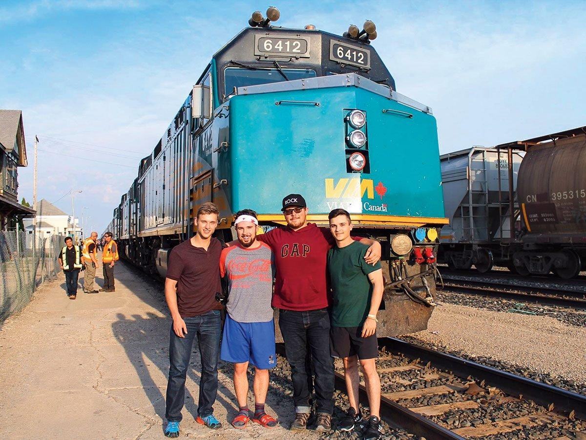 Train across Canada - Via Rail locomotive