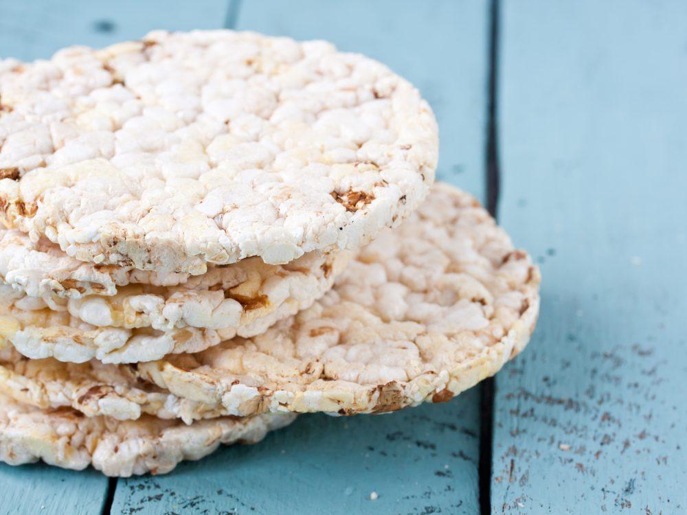 White rice crackers