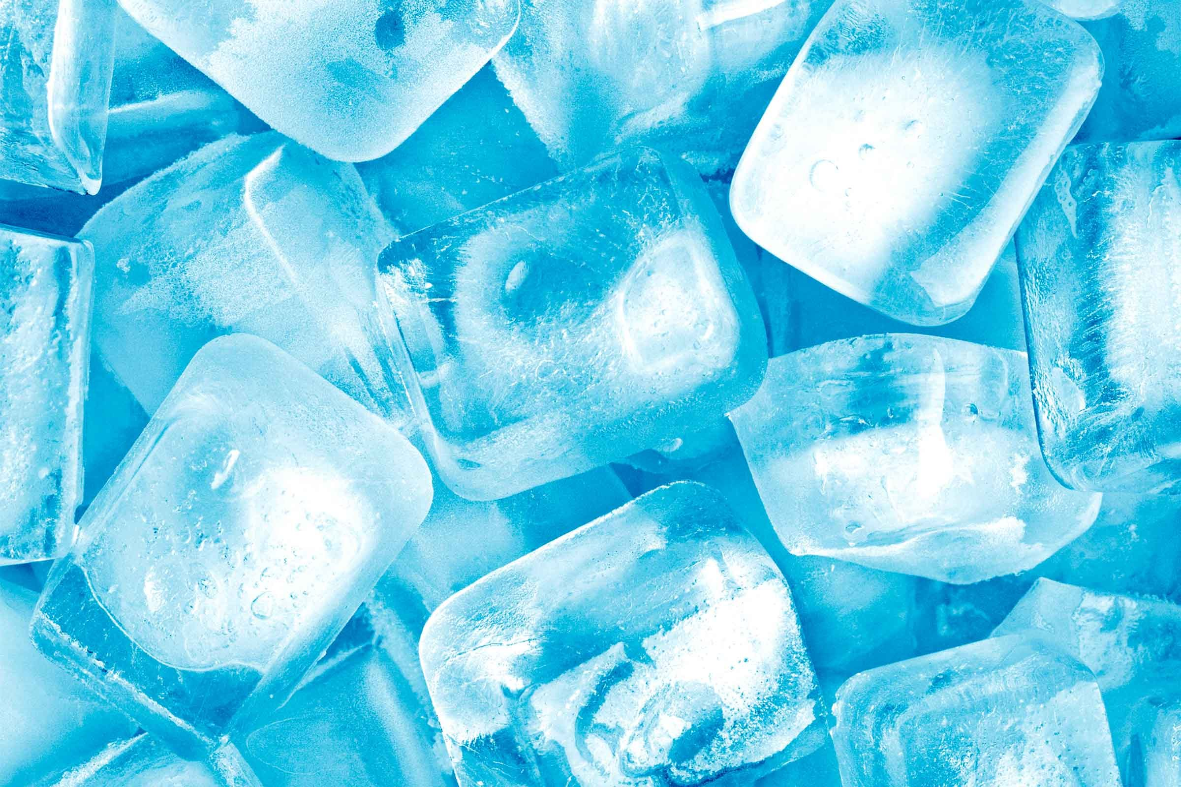 Close-up of ice cubes