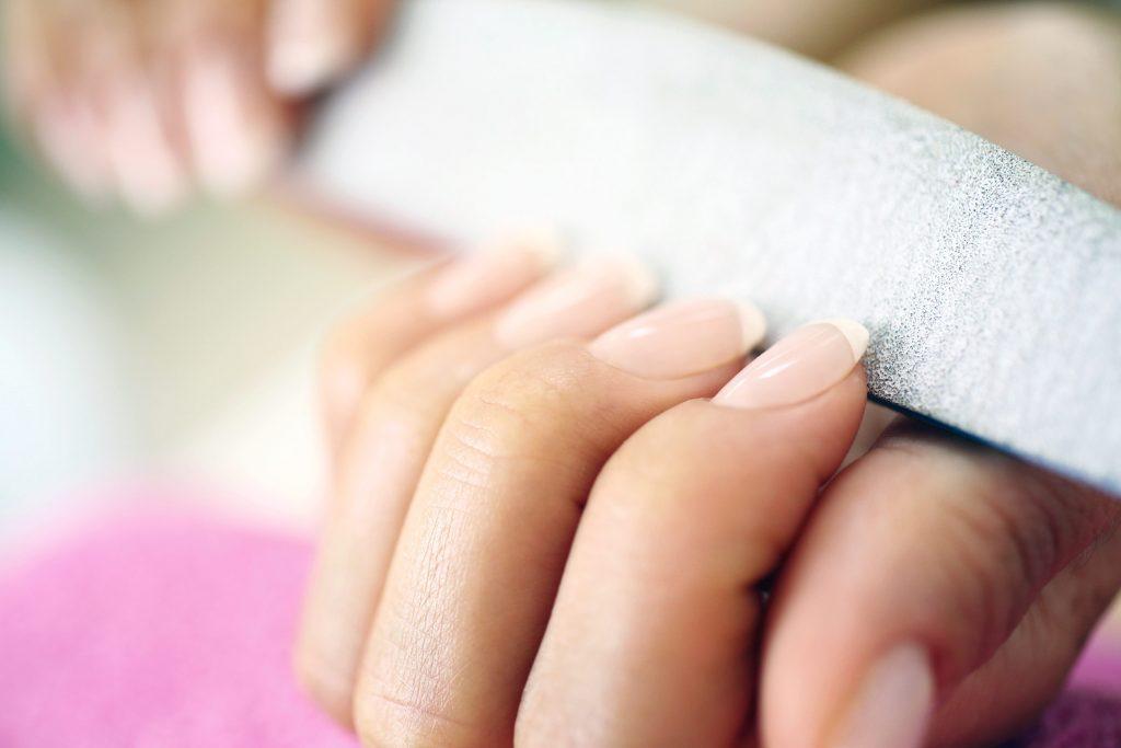 Close-up of woman's nails