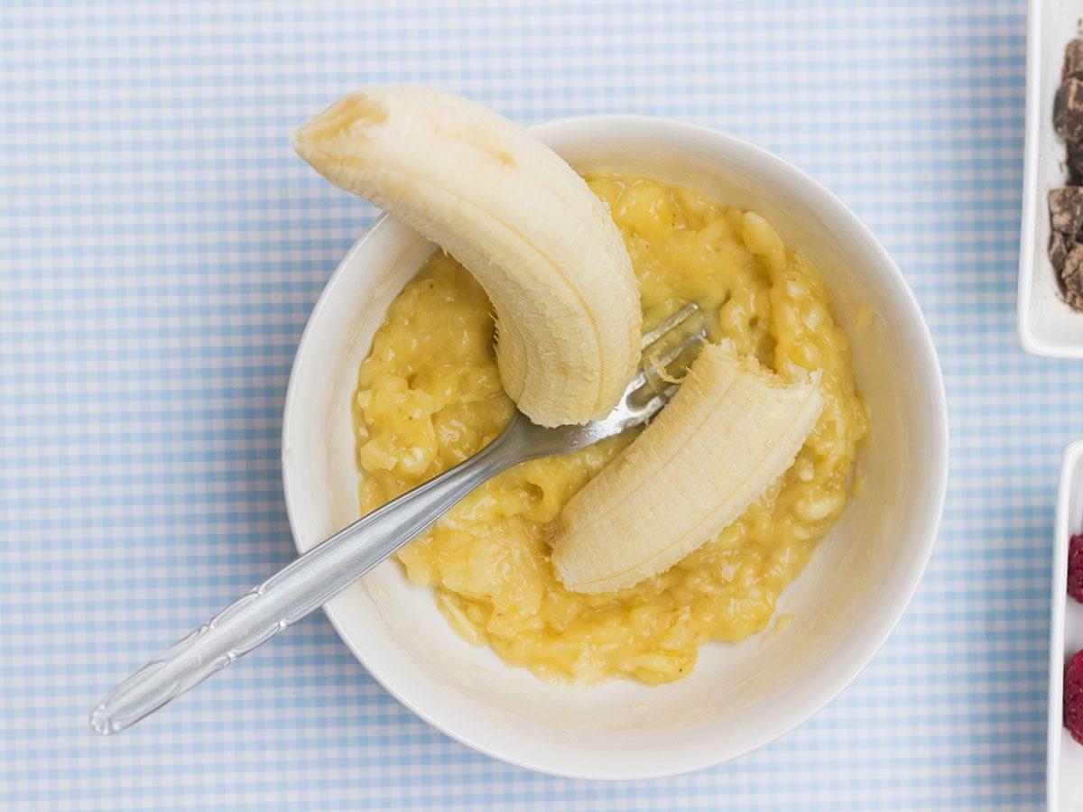 Mashed banana.
