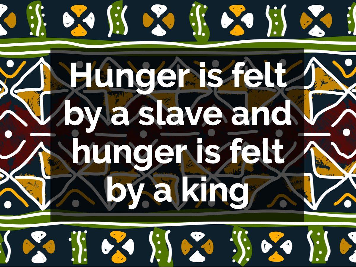 Ghanaian proverb