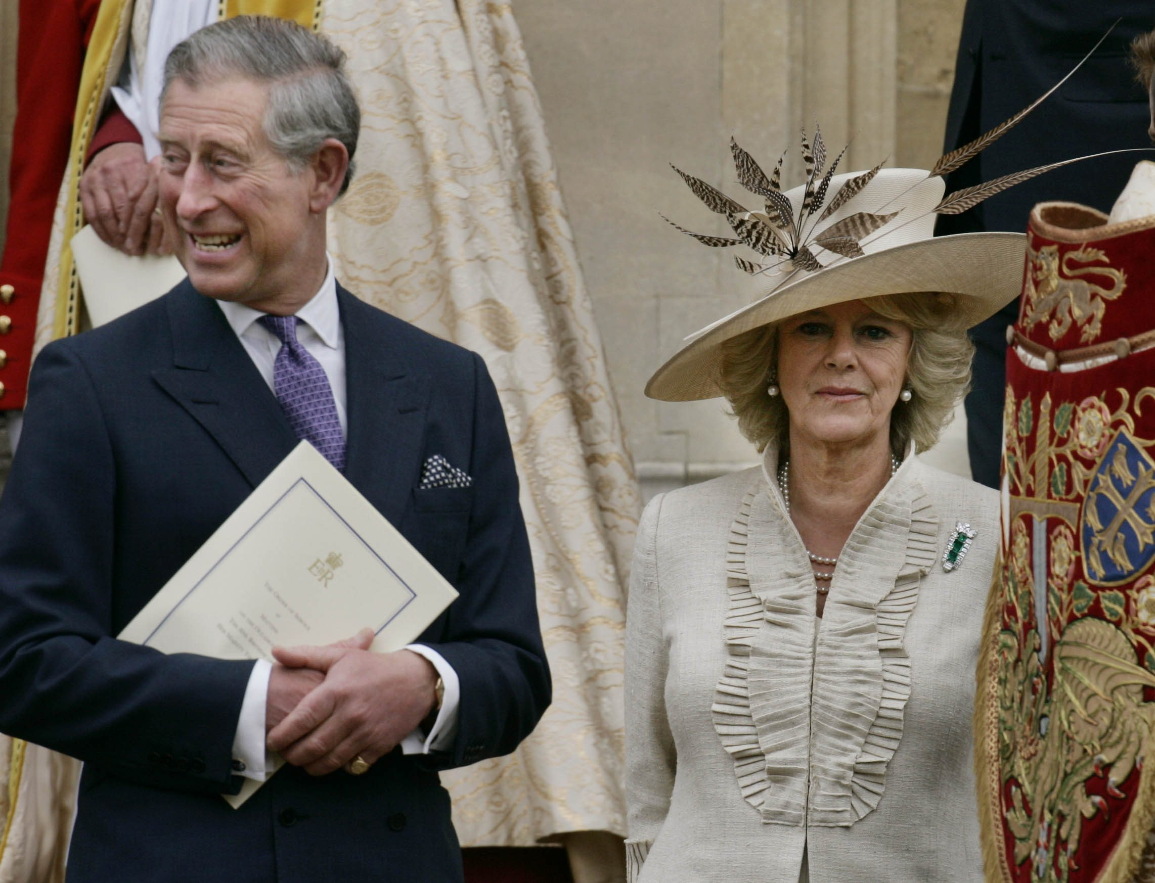 Mandatory Credit: Photo by Lefteris Pitarakis/AP/Shutterstock (7393615a) Prince Charles, Camilla, Duchess of Cornwall Britain's Prince Charles, left, and his wife Camilla, Duchess of Cornwall, leave Windsor Castle's St. Georges Chapel in Windsor, England, Sunday, April 23. 2006, following a special Service of Thanksgiving to celebrate Queen Elizabeth II's 80th birthday. Queen Elizabeth II, was born on and became Queen in February 1952 BRITAIN QUEEN'S 8OTH, WINDSOR, United Kingdom England