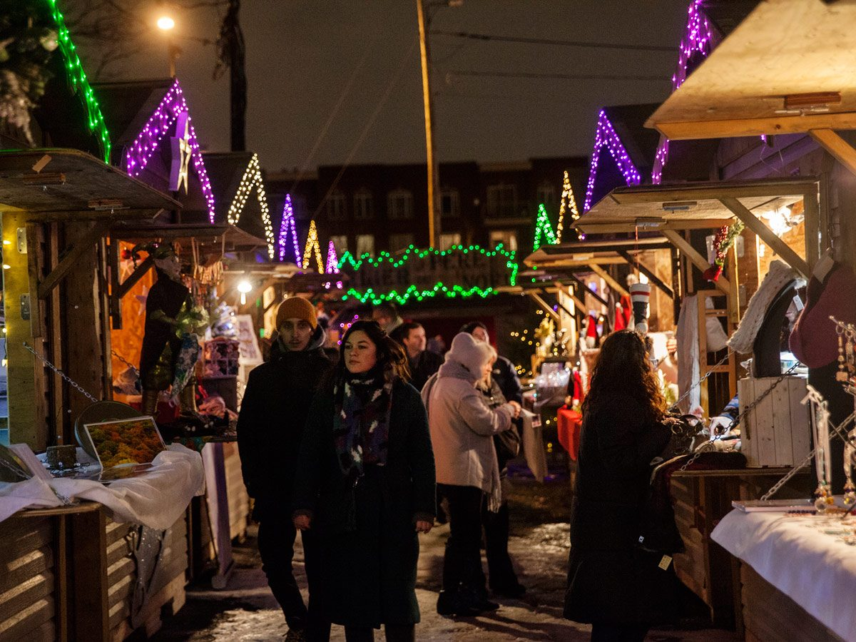 Holiday markets - Village de Noel de Montreal
