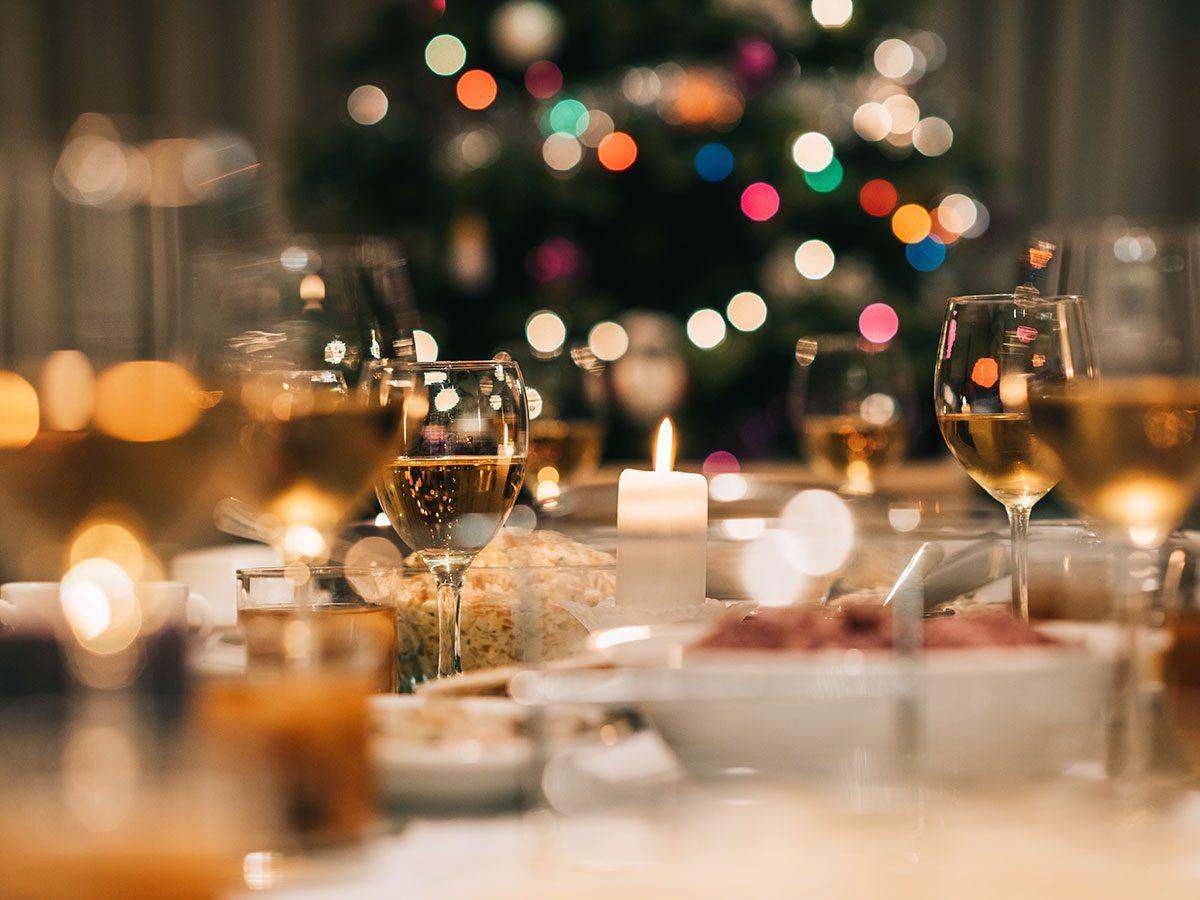 Christmas dinner feast