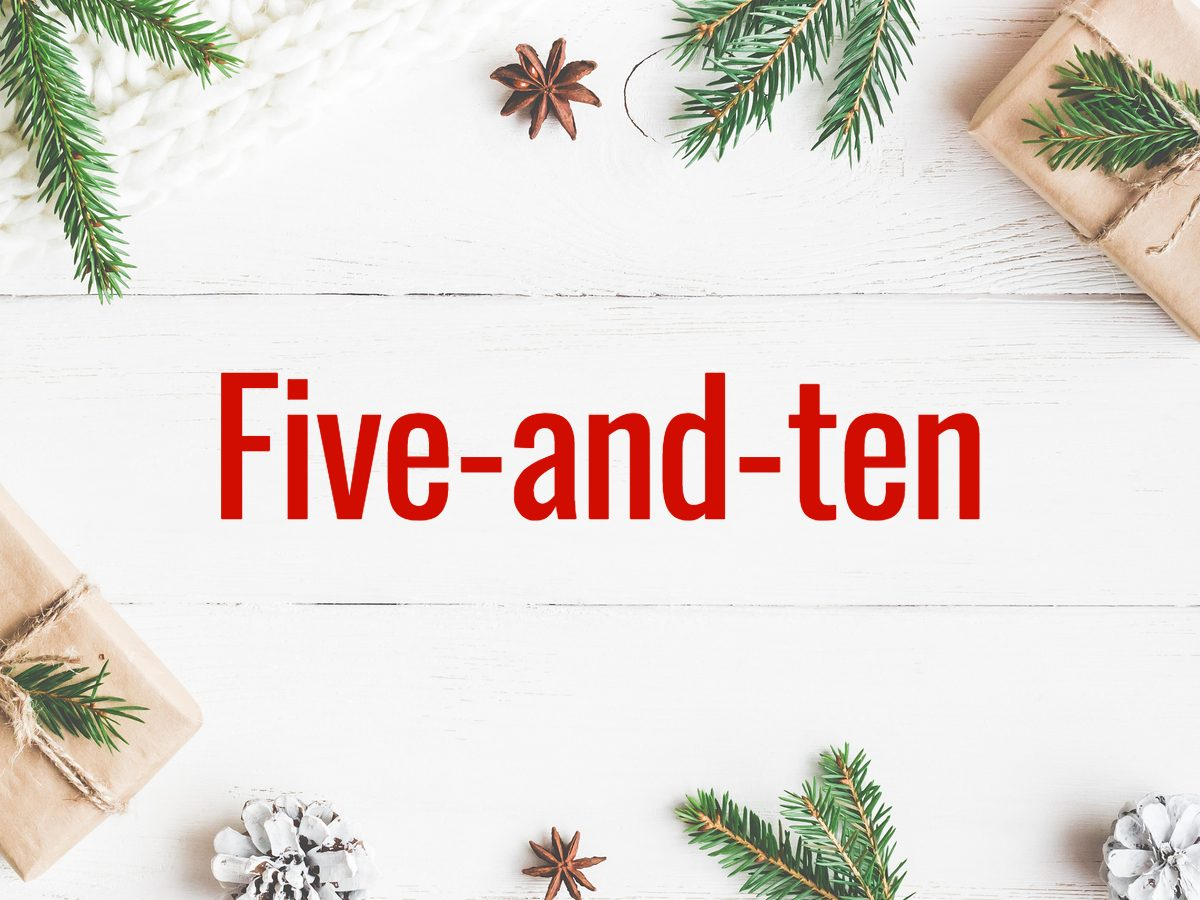 Christmas words - Five-and-ten