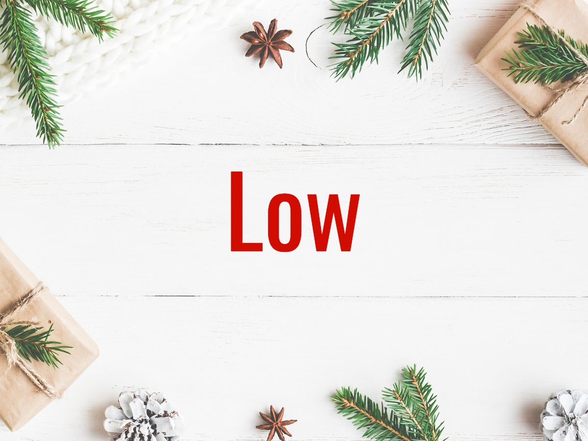 Christmas words - Low