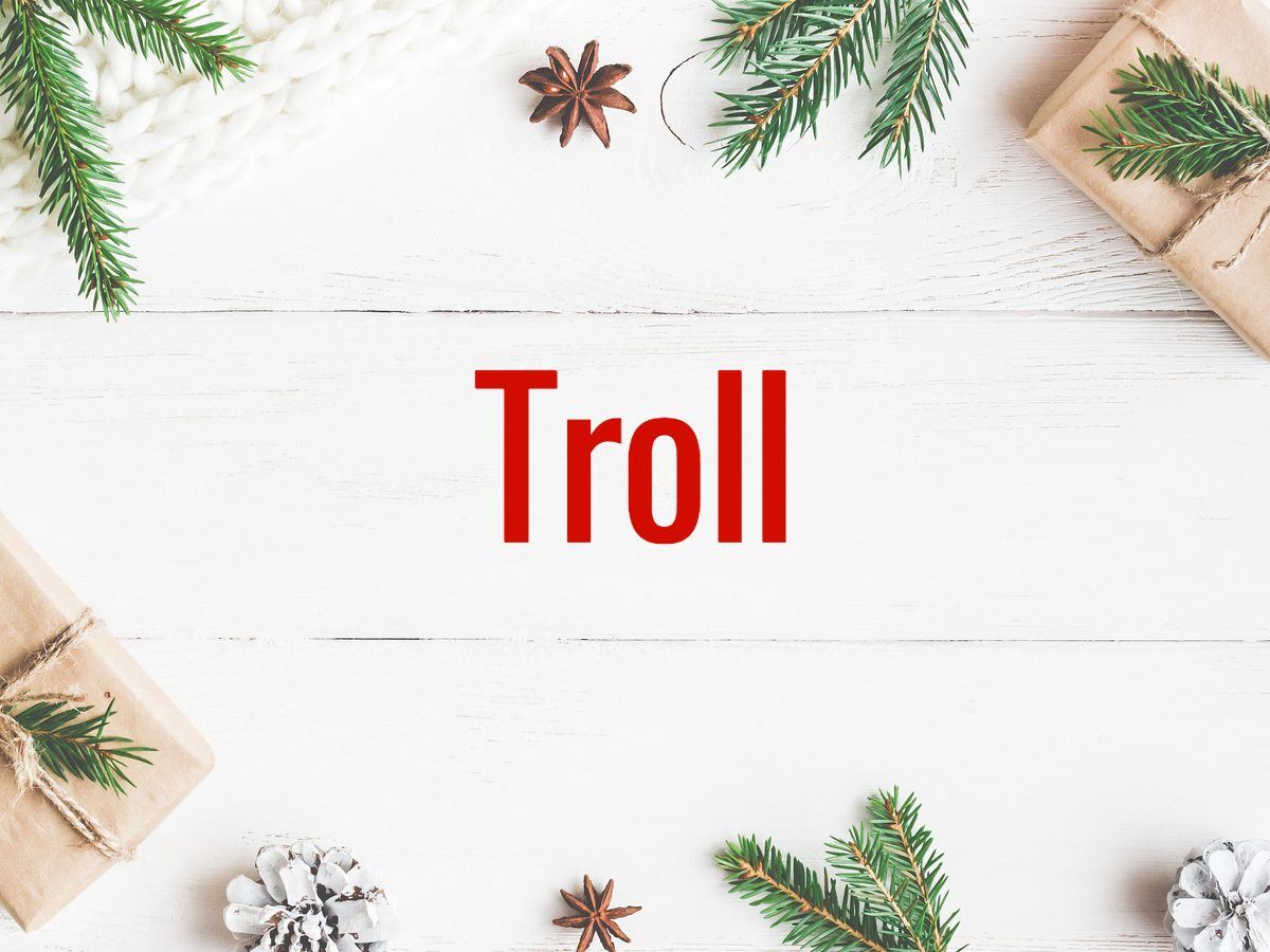 Christmas words - troll
