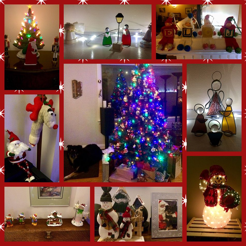 Deck the halls - Collage of holiday decor